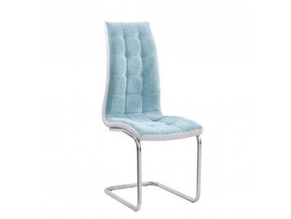 Jídelní židle, mentolová /šedá/ chrom, SALOMA NEW