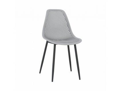 Jídelní židle, šedá/černá TEGRA