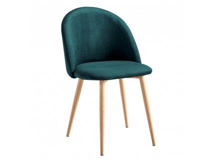 Jídelní židle, smaragdová, FLUFFY
