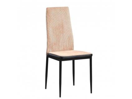 Jídelní židle, světlehnědá/černá, ENRA
