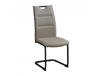 Jídelní židle, světlehnědá/černá, MEKTONA