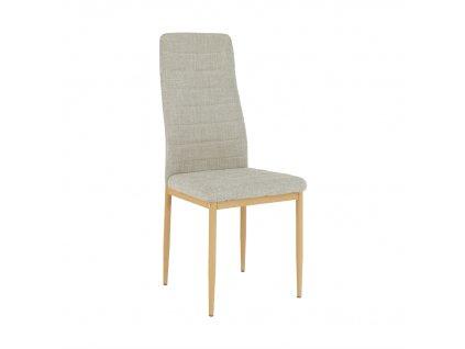 Židle, béžová látka / buk, COLETA NOVA