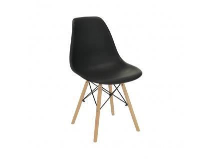 Židle, černá/buk, CINKLA 3 NEW