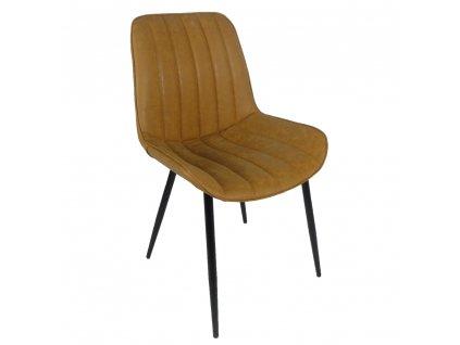 Židle, hnědá camel / černá, Hazal
