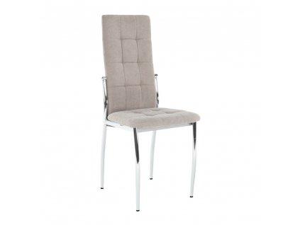 Židle, hnědá látka / kov, ADORA NEW