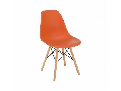 Židle, oranžová/buk, činka 3 NEW
