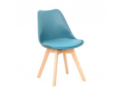 Židle, petrolej / buk, BALI 2 NEW