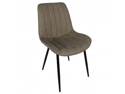 Židle, šedohnědá taupe / černá, Hazal