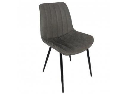 Židle, světle šedá / černá, Hazal
