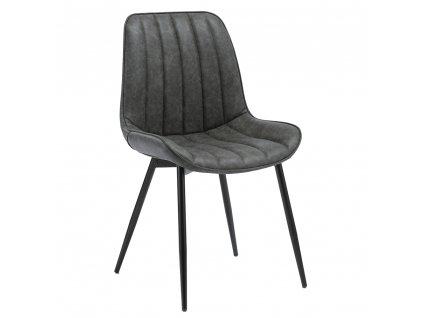 Židle, tmavě šedá / černá, Hazal