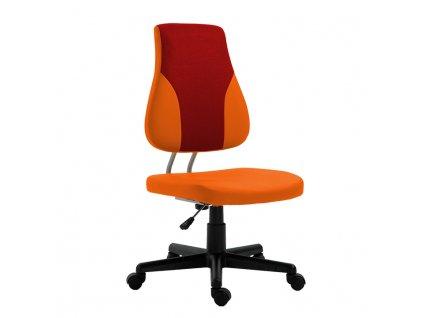 Otočná rostoucí židle, oranžová / červená, RANDAL