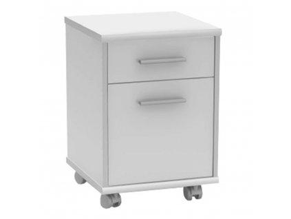 Kancelářský kontejner, bílá, JOHAN NEW 07