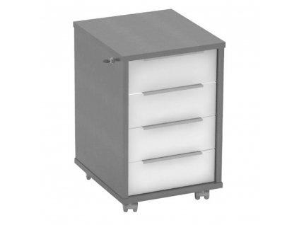 Kontejner se zámkem, grafit / bílá, RIOMA TYP 30