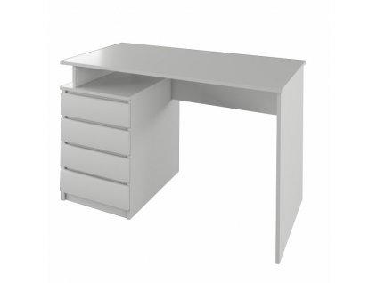 PC stůl, bílá, HANY