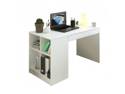 PC stůl, bílá, VENDI