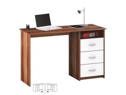 PC stůl, švestka / bílá, LARISTOTE