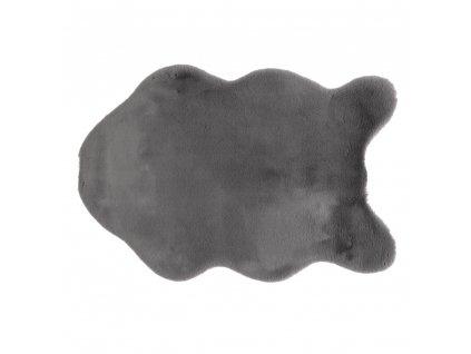 Umělá kožešina, šedá, 60x90, RABIT TYP 3