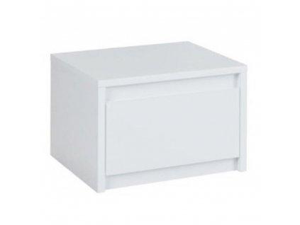 2x noční stolek, bílá / extra vysoký lesk HG, ITALIA