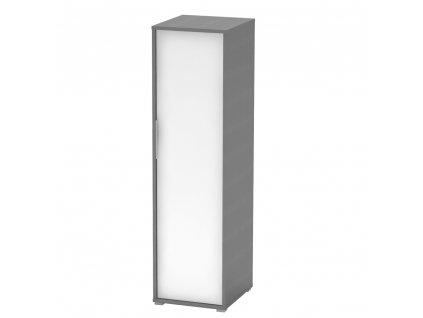 Věšáková skříň, grafit/bílá, RIOMA TYP 20