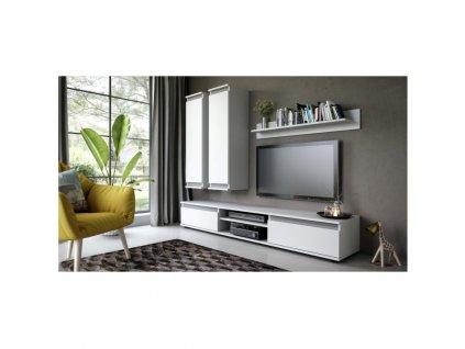 Obývací stěna, bílá/šedá, REGIA