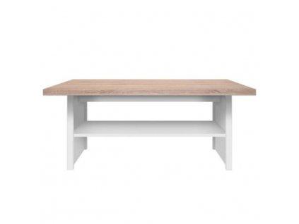 Konferenční stolek 115, bílá / dub sonoma, TOPTY TYP 18