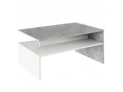 Konferenční stolek, beton / bílý, DAMOLI