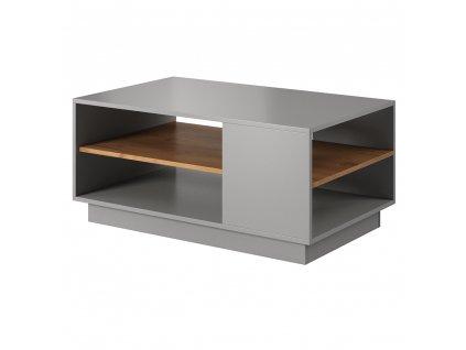 Konferenční stolek, šedá/dub craft zlatý, TRIO