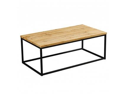 Konferenční stolek, světlý dub/černá, BORMO