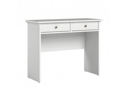 Konzolový stolek, bílá, PARIS