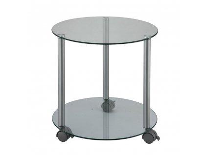 Pojízdný příruční stolek, šedá, TALAN