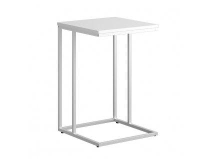 Příruční stolek, bílá, KALA