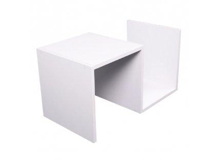 Příruční stolek, bílá, VALMAR