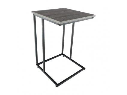 Příruční stolek, dub / černá, KALA