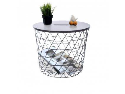 Příruční stolek, grafit / černá, BATIS TYP 1