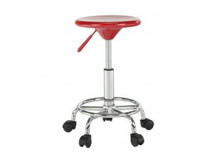 Židle, červená / chrom, MABEL 2 NEW