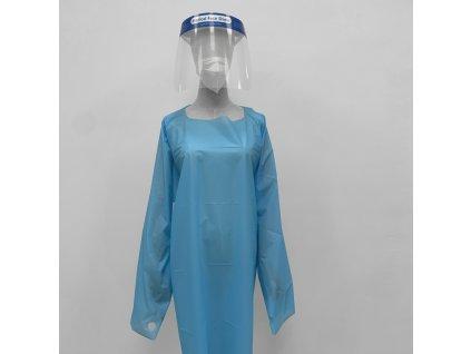 Ochranný oblek 1ks - modrý CPE/PE-C - voděodolný