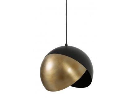 Lampa závěsná Namco 25 černá/antická hnědá
