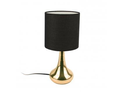Lampička stolní Perle zlatá/černá