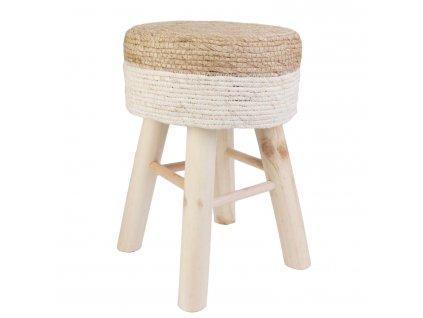 Stolička Bolsa přírodní/bílý