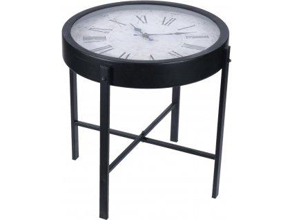 Stolek s hodinami Montreal černý