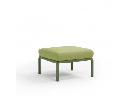 Podnožka Komodo zelená/světle zelená