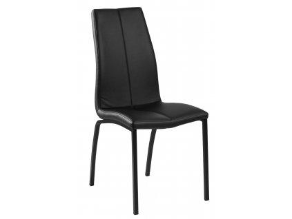 Židle Asama černá PU černé nohy