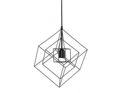 Lampa závěsná Kubinka 25x25x27 černá