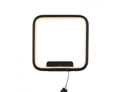Nástěnná lampa Led Quadrat No.1 in 3k černá