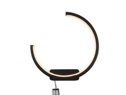 Nástěnná lampa Led Ring No.1 Moon in 3k černá levá
