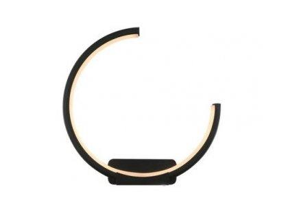 Nástěnná lampa Led Ring No.1 Moon in 3k černá pravá