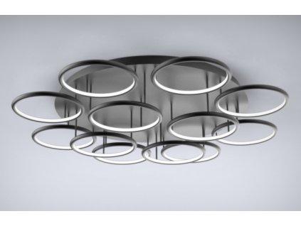 Stropní lampa Led kruhy 12 černá in 4k