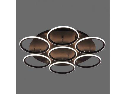 Stropní lampa Led kruhy 7 černá out 3k
