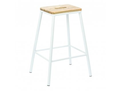 Barová stolička Seattle bílý