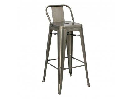 Barová židle Paris Back Short 75cm kovová insp.Tolix